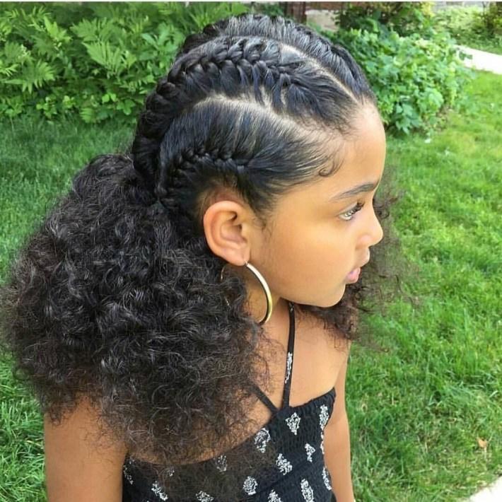 Braids Cornrows Mixed Hair Little Girl | Easy Hair Braids For inside Mixed Girls Hair Cut Pictures