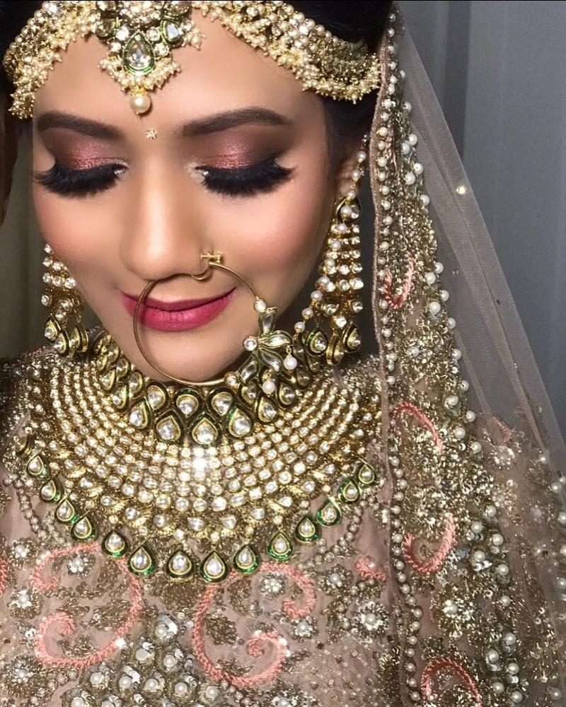 bridal makeup gallery indian - wavy haircut