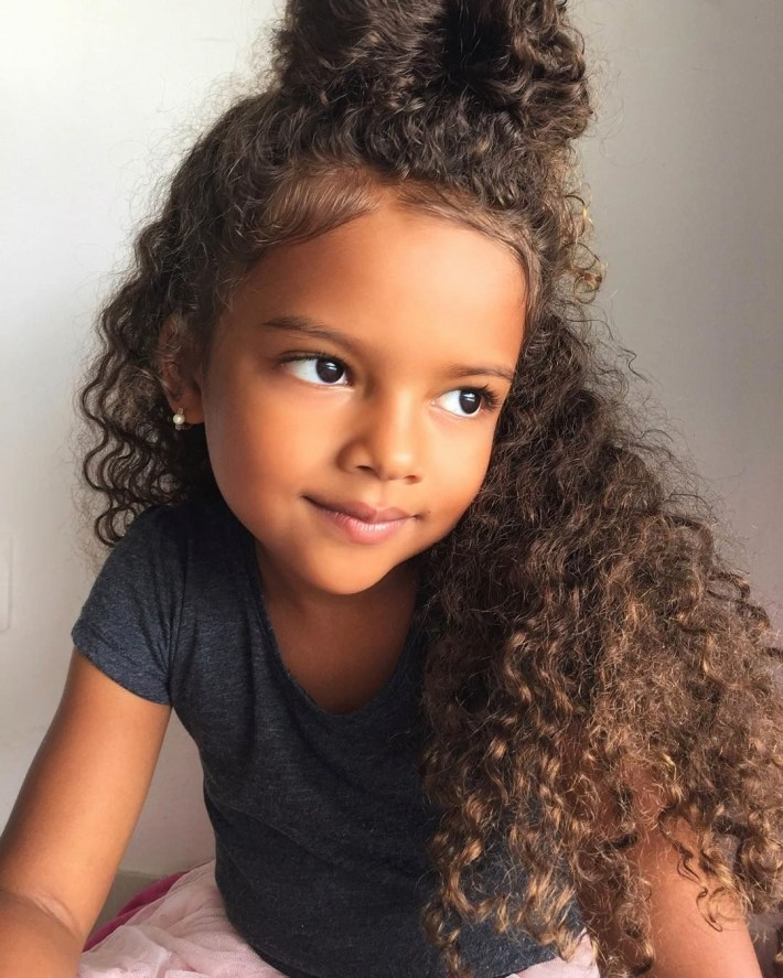 Cute Hairstyles For 3 Year Olds With Curly Hair | Hairstyles For in Mixed Girls Hair Cut Pictures