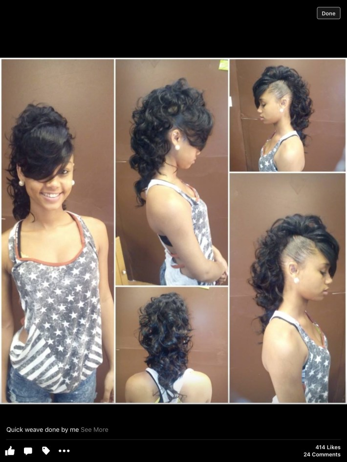 Mohawk Creative Style Weave | My Work | Hair Styles, Long Hair with Braided Mohawk With Sew In Weave