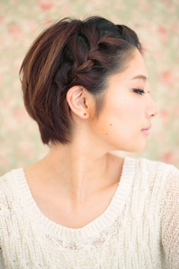 10 Braided Hairstyles For Short Hair - Popular Haircuts regarding Asian Short Hairstyles With Bangs