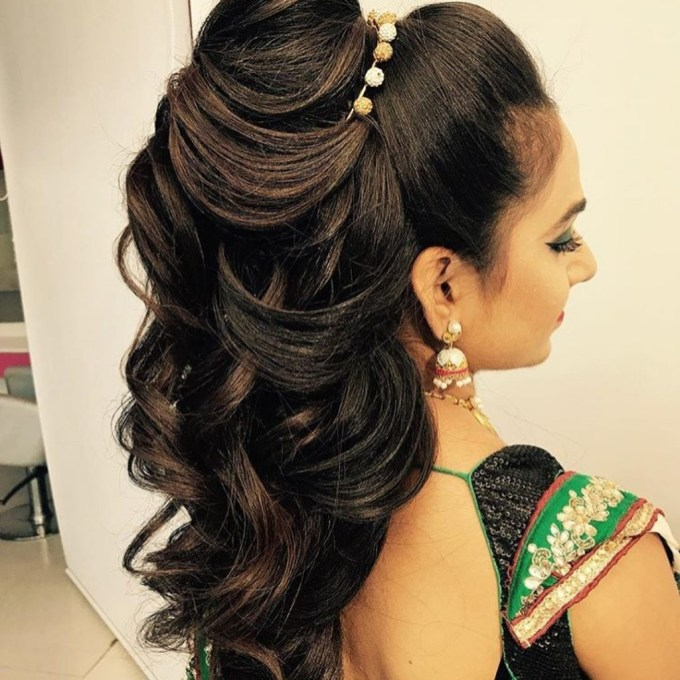 25+ Pre-Wedding Hairstyles For Mehndi Haldi Or More Functions! in The greatest South Asian Wedding Hairstyles