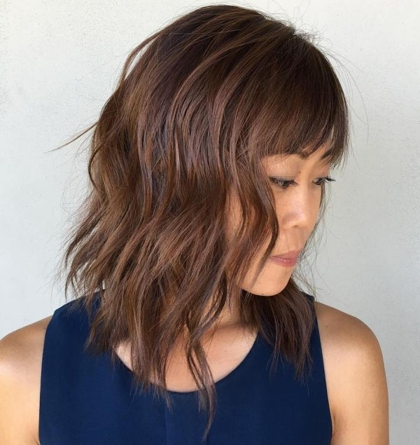 30 Modern Asian Girls' Hairstyles For 2019 for Asian Hairstyles With Side Bangs