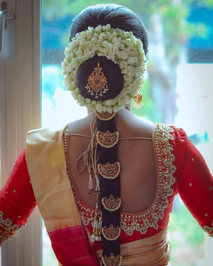 5 Stunning South Indian Bridal Hairstyles (And How To Choose The One) intended for Bridal Hairstyle In South Indian Style