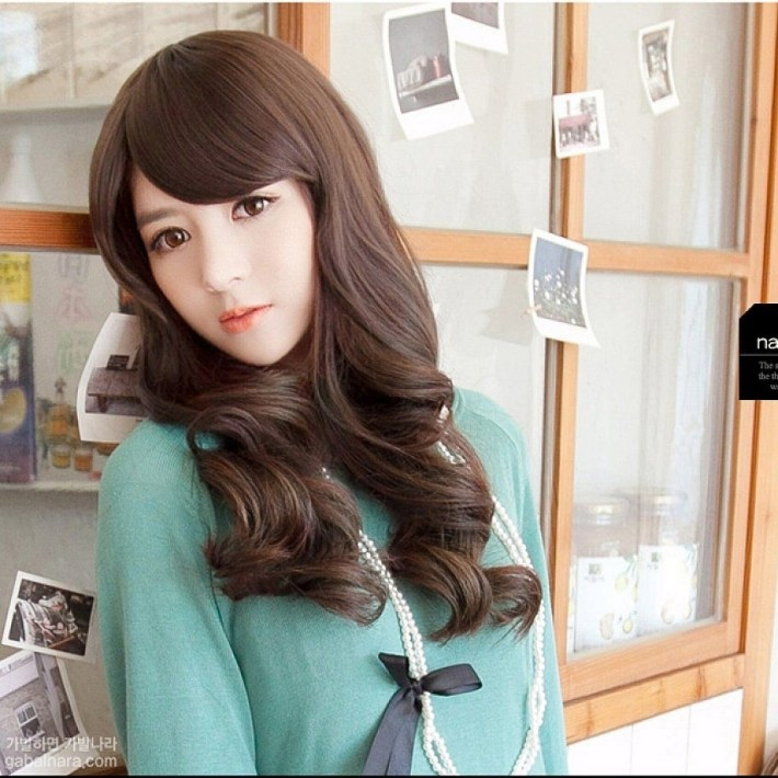 Asian Teenage Cute Long Hairstyles With Side Bangs For Wavy Hair intended for Best Asian Hairstyles With Side Bangs