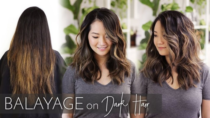 Balayage On Dark Hair | Foilayage Technique On Black Asian Hair intended for Asian Hair With Caramel Highlights