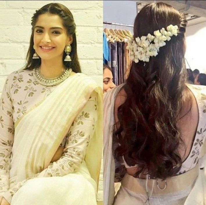 Beautiful, Modem Way Of Putting Jasmine Flowers In Hair | Wedding throughout Casual Indian Hairstyles For Long Hair