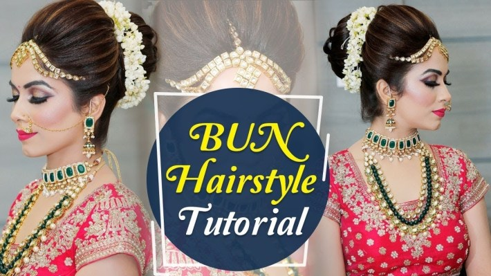 Bun Hairstyle Tutorial | Step By Step Indian Bridal Hairstyle Tutorial  Video | Krushhh By Konica intended for Bun Hairstyle For Indian Marriage