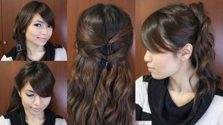 Casual Friday Easy Hairstyles For Medium Long Hair Tutorial regarding Casual Indian Hairstyles For Medium Hair