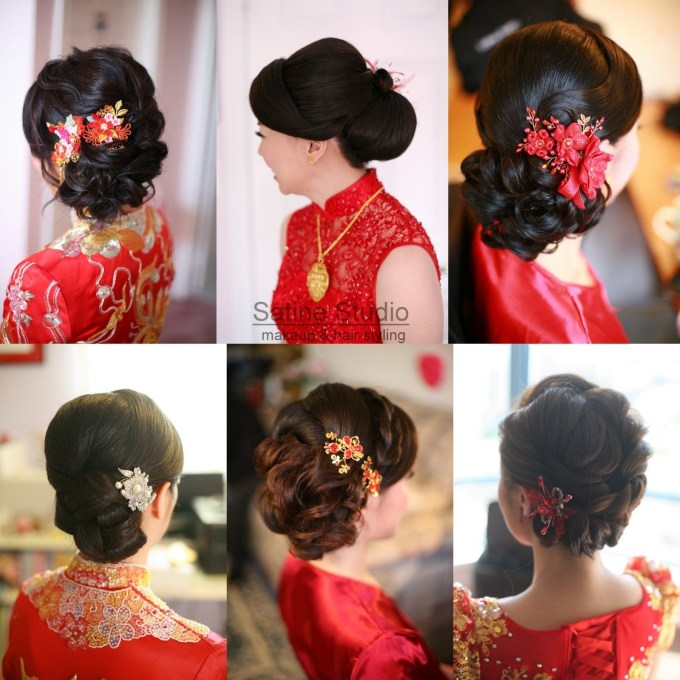 Chinese Wedding Hairstyles Satinestudio Bridal Updo, Toronto with regard to Asian Wedding Party Hairstyles