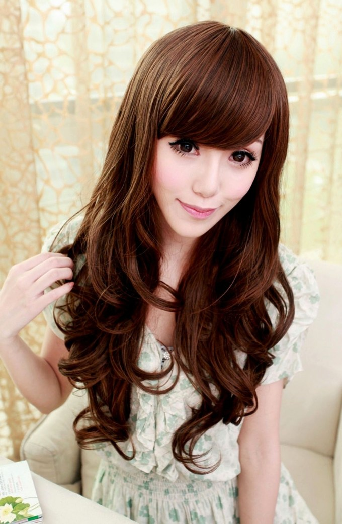 Curly Hairstyle : Pretty Long Curly Hairstyles Korean Ideas Hair with Top-drawer Asian Long Curly Hairstyles