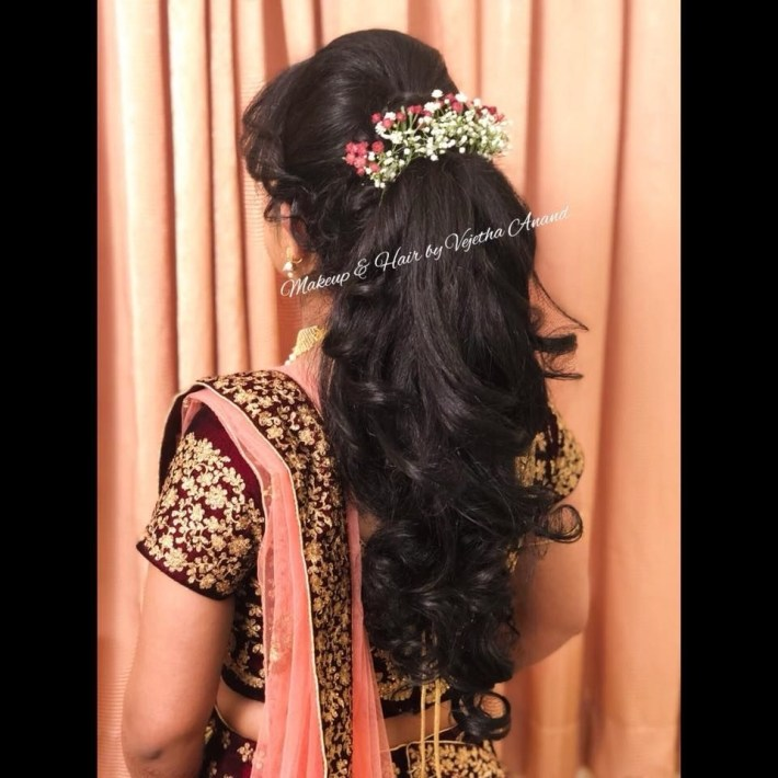 Gorgeous Bridal Updo By Vejetha For Swank. Bridal Hairstyle With for Bridal Hairstyles For Long Hair South Indian