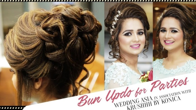 How To Do Bun Updo For Parties?   Hair Bun For Party   Beautiful regarding Asian Hairstyles For Wedding Party