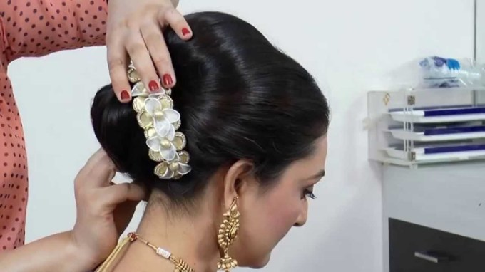 Indian-Asian Bridal Hairstyle Tutorial. - Youtube within Asian Indian Wedding Hairstyles