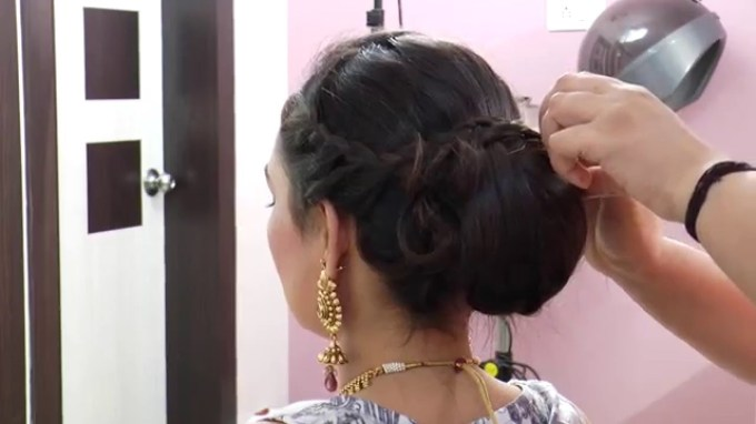 Indian Asian Bridal Hairstyle - Youtube intended for Asian Wedding Hairstyles For Long Hair