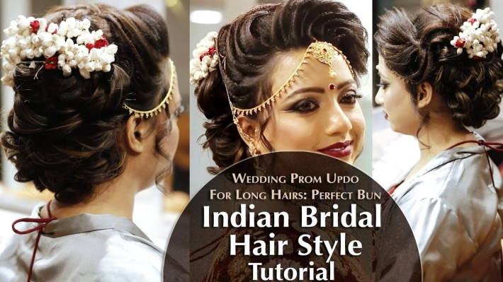 Indian Bridal Hair Style | Perfect Long Hair Bun Tutorial | Krushhh By  Konica intended for Bun Hair Style For Indian Bride