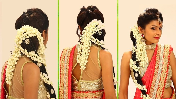 Indian Bridal Hairstyle Step By Step - South Indian Bridal Hair Style For  Wedding & Reception throughout Bridal Hairstyle In Indian Style
