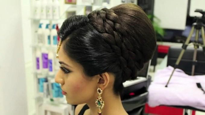 Indian, Pakistani, Asian Bridal Hair Style | Tikka & Dupatta Setting in Superb Asian Indian Wedding Hairstyles