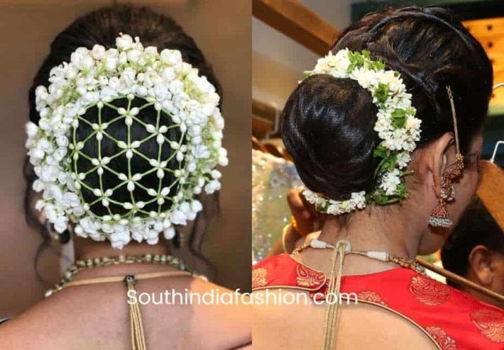 Indian Wedding Bun Hairstyle With Flowers And Gajra! with regard to Bun Hairstyle For Indian Wedding With Flower