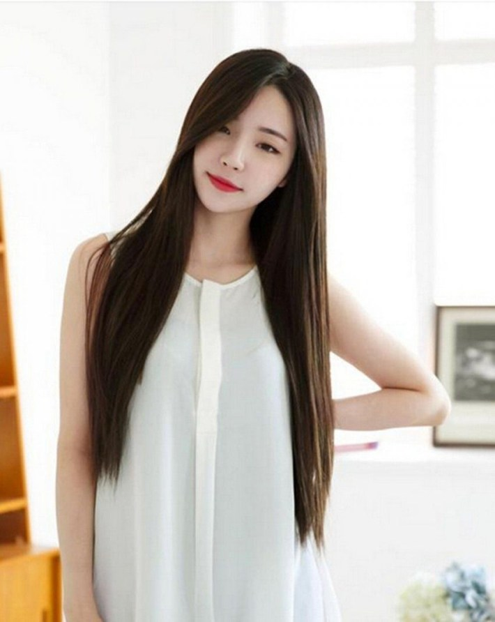 Amazing Asian Long Hairstyles With Bangs Wavy Haircut