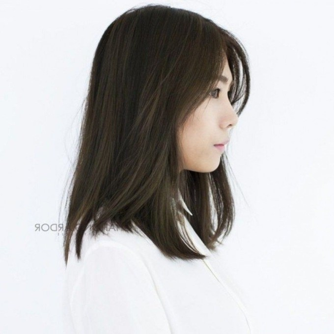 New Medium Length Korean Hairstyle For Round Face To Try In 2018 intended for Superb Asian Shoulder Length Hairstyles For Round Faces