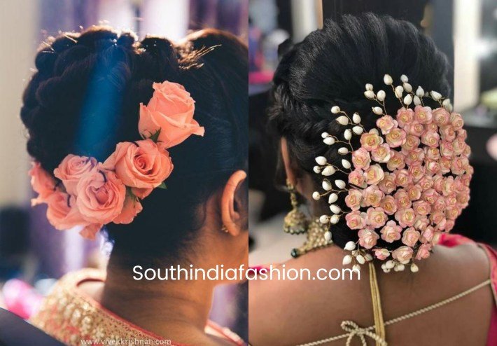 Pin By Sucharitha Reddy On Hairdo In 2019 | Bun Hairstyles, Bridal for Bun Hairstyle For Indian Wedding With Flower