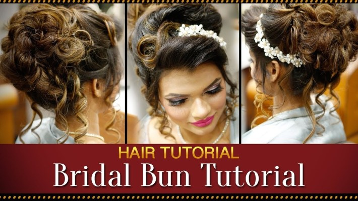 Step By Step Indian Bridal Bun Hairstyle Tutorial Video | Bridal Hairstyles  For Asian Wedding throughout Bridal Hairstyle Indian Wedding Step By Step
