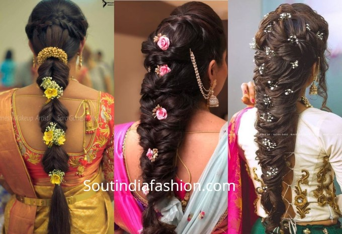 Top 10 South Indian Bridal Hairstyles For Weddings, Engagement Etc. with South Asian Wedding Hairstyles