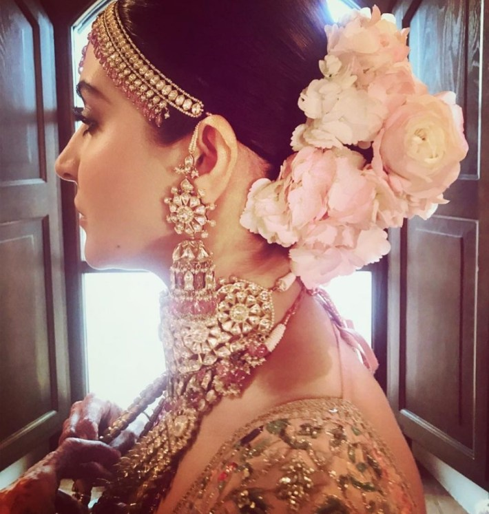 Top Trend - Floral Hairstyles For Brides This Wedding Season! throughout Bun Hairstyle For Indian Wedding With Flower