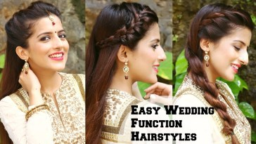 3 Easy Hairstyles For Indian Wedding Occasions For Medium Hair / Indian  Party Heatless Hairstyles inside Hairstyle For Indian Wedding Party Step By Step