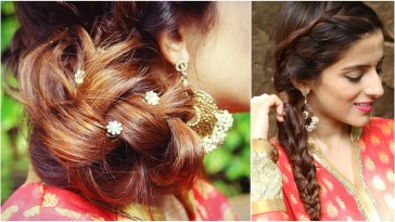 3 Indian Hairstyles For Medium To Long Hair | Indian Wedding Hairstyles For  Medium Hair throughout Indian Long Hairstyles For Wedding