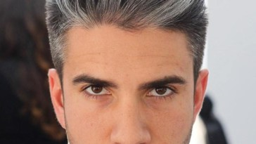 Brushed Back Salt And Pepper Hairstyle | Cool Men's in Mens Salt And Pepper Hair Styles