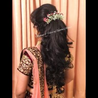 Indian Bridal Hairstyle For Reception