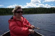 Mary catching fish, yeah!