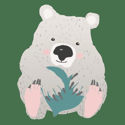 ilustración de wombat png