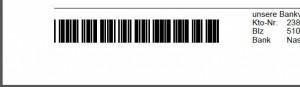 Barcode auf Rechnung / Liferschein
