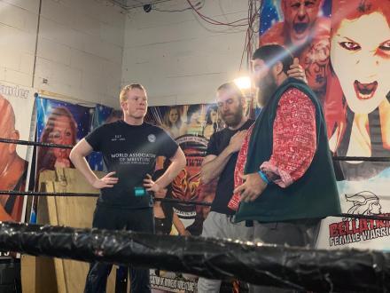 Mick Foley teaching Marvel Marcus and Opie Jackson