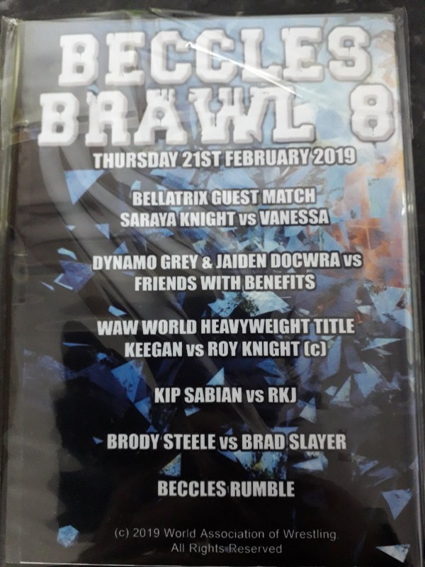 Beccles Brawl 8 Back Cover