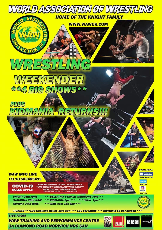 Wrestling Weekender Poster WAW Bellatrix Kidmania