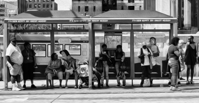 Scene at the bus stop 40