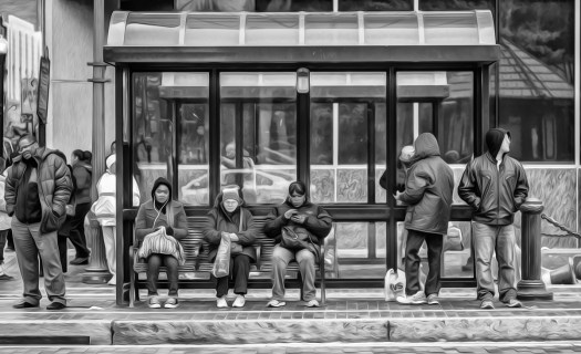 scenes at the bus stop act 25