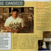 Twenty Five Years of Canseco Super Collectors