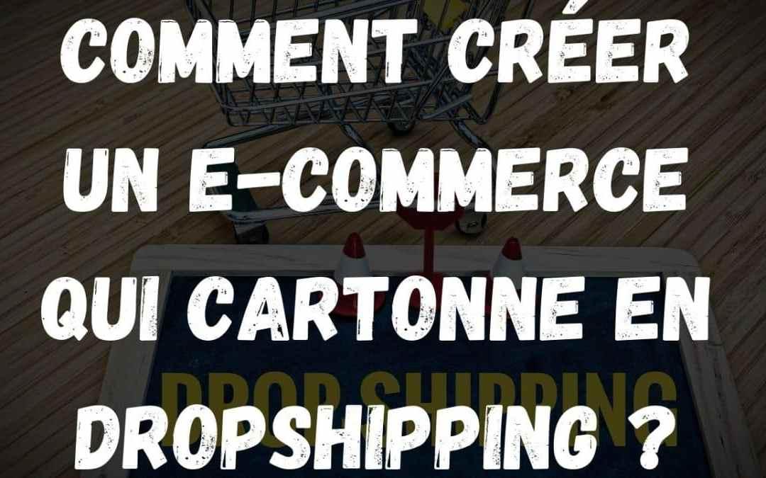 Comment créer un e-commerce qui cartonne en dropshipping ?