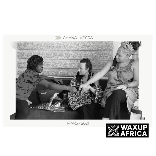 Today is another day.✨ 🎬 Jour 6 . Artisanat, industrie, même combat🔋Qualité et savoir- faire made in Africa. We are WaxUp Africa ❤️  . #alfiedesignqg . Ici en énergie avec Beatrice, Diana & Phoebe🙏🏾🌀  . 📸 @laemotionne