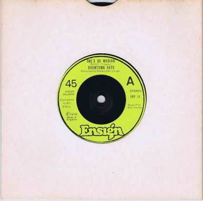 The Boomtown Rats - She's So Modern - ENY 13 - 7-inch Record