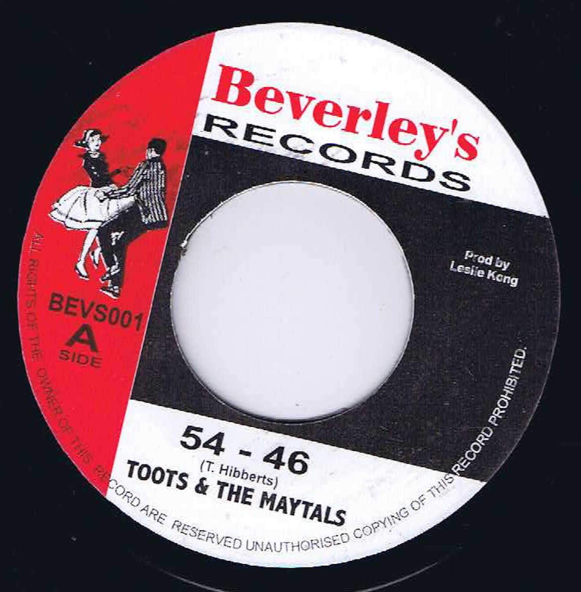 Toots & The Maytals – 54 - 46 / Pressure Drop - BEVS001 - 7-inch Vinyl  Record