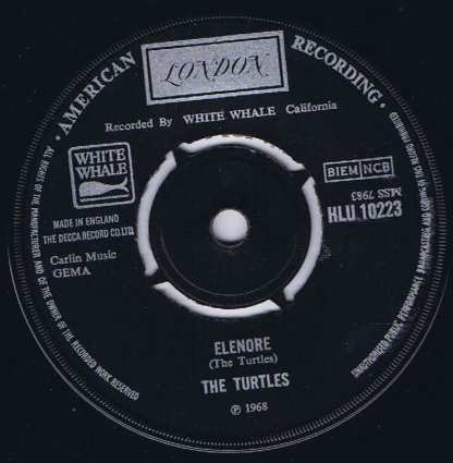 The Turtles ‎– Elenore - HLU 10223 - 7-inch Vinyl Record