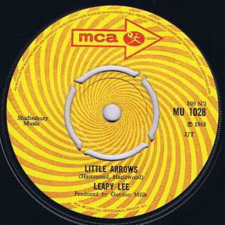 Leapy Lee – Little Arrows / Time Will Tell - MU 1028 - 7-inch Vinyl Record