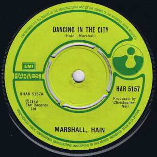 Marshall, Hain – Dancing In The City - HAR 5157 - 7-inch Vinyl Record