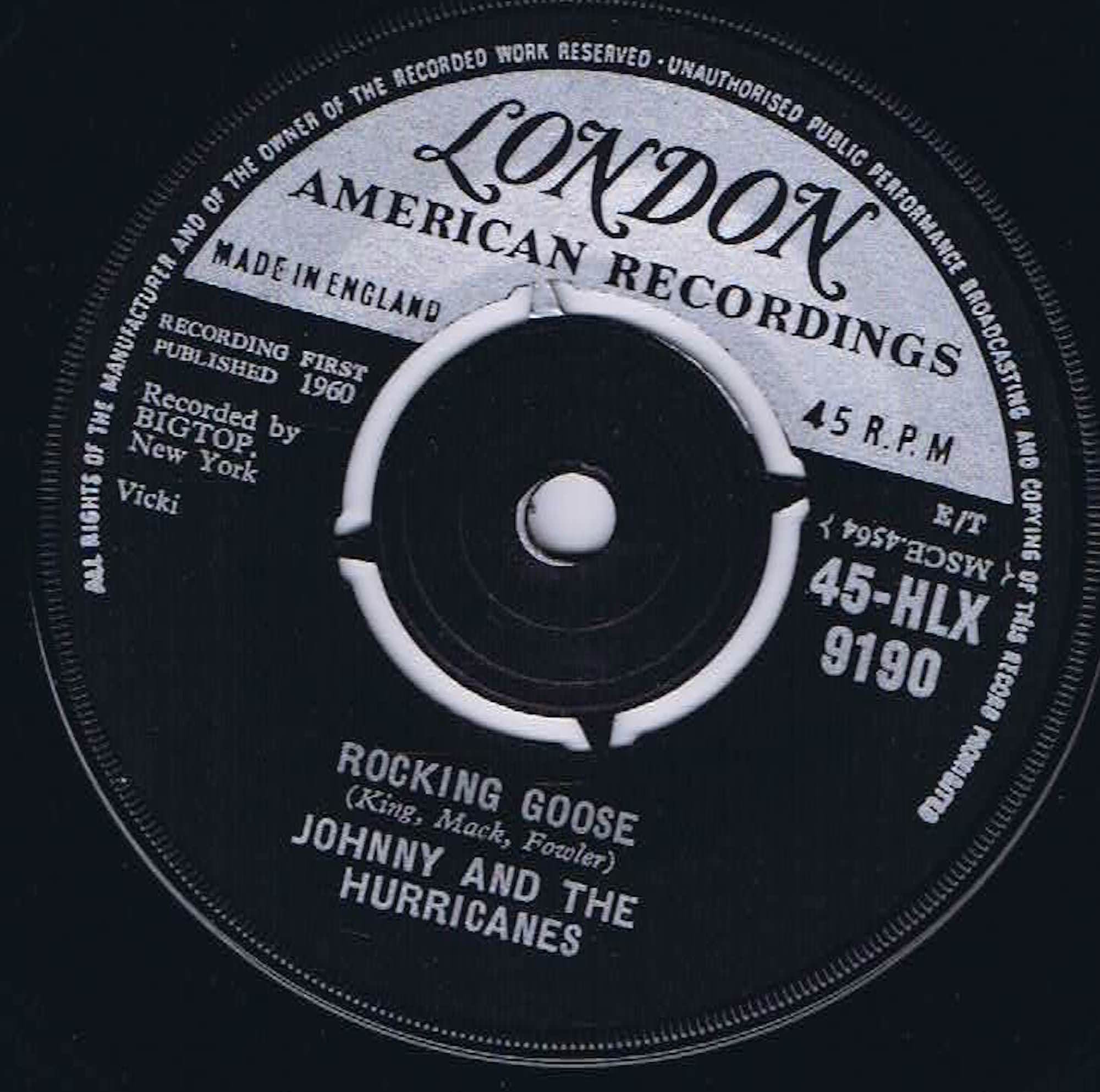 Johnny And The Hurricanes - Rocking Goose - 45-HLX 9190 - 7-inch Vinyl  Record • Wax Vinyl Records